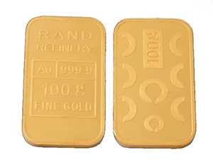 GOLD MINTED BAR &#8211; 100g &#8216;RAND REFINERY&#8217; <div>More Info/Send Enquiry</div><b>WE SELL @ R64,525 (Incl. Vat)</b>