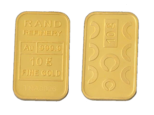 GOLD MINTED BAR &#8211; 10g &#8216;RAND REFINERY&#8217; <div>More Info/Send Enquiry</div><b>WE SELL @ R6,805 (Incl. Vat)</b>